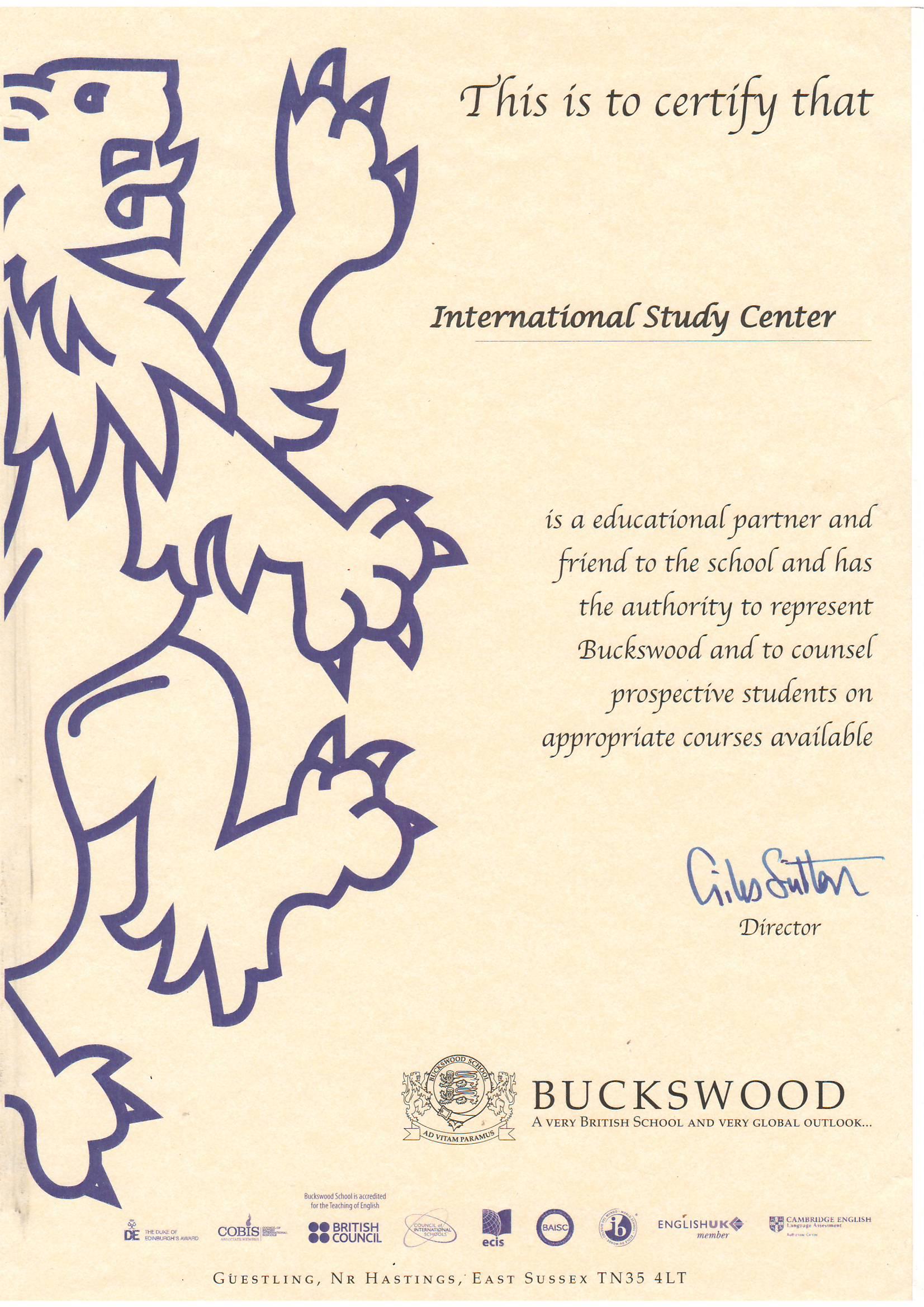 Мы являемся представителями вуза Buckswood, Великобритания
