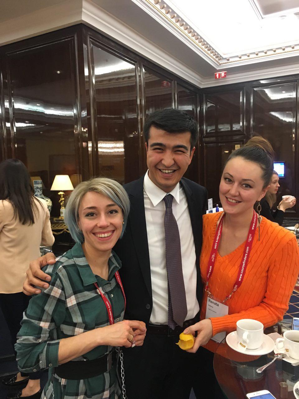 На конференции ICEF в Москве с коллегами и хорошим настроением!